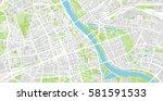 vector city map of warsaw ... | Shutterstock .eps vector #581591533