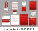 corporate identity design mock... | Shutterstock .eps vector #581593414