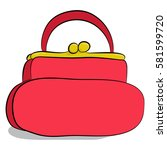 woman red handbag icon isolated ... | Shutterstock .eps vector #581599720