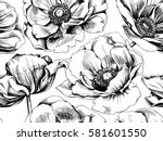 seamless pattern with image... | Shutterstock .eps vector #581601550