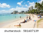 honolulu  hi  september 27 ... | Shutterstock . vector #581607139