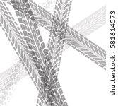 tire tracks vector | Shutterstock .eps vector #581614573