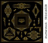 vector set of vintage elements... | Shutterstock .eps vector #581616028