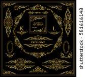 vector set of vintage elements... | Shutterstock .eps vector #581616148