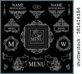 vector collection of logo  sign ... | Shutterstock .eps vector #581616184