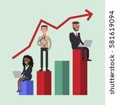 diagram positive   working...   Shutterstock .eps vector #581619094