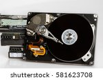 hard drive disk stack with... | Shutterstock . vector #581623708