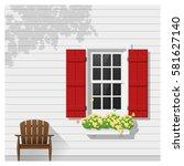 architectural element window... | Shutterstock .eps vector #581627140