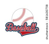 baseball club emblem icon   Shutterstock .eps vector #581630758