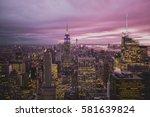 manhattan  new york  usa  ... | Shutterstock . vector #581639824