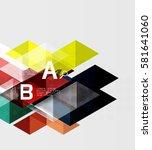futuristic triangle tile... | Shutterstock .eps vector #581641060