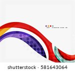 business corporate wave... | Shutterstock .eps vector #581643064