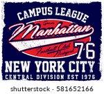 athletic dept. new york ... | Shutterstock .eps vector #581652166