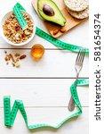 concept diet   healthy food... | Shutterstock . vector #581654374