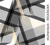 linear pattern grid  straight ... | Shutterstock .eps vector #581656264