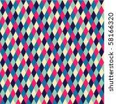 rhombic  seamless pattern | Shutterstock .eps vector #58166320