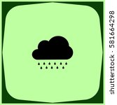 pictogram cloud with rain icon