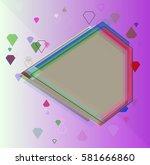 gem design pattern | Shutterstock .eps vector #581666860