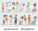 creative people. vector... | Shutterstock .eps vector #581668414