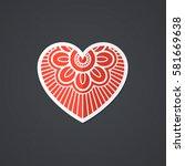 vector heart icon. single... | Shutterstock .eps vector #581669638
