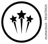 star salute rounded icon.... | Shutterstock .eps vector #581670424
