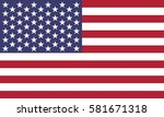 flag of the united states | Shutterstock .eps vector #581671318
