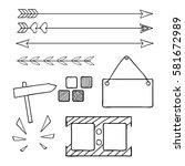 hand drawn bullet journal... | Shutterstock .eps vector #581672989