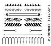 hand drawn bullet journal... | Shutterstock .eps vector #581673046