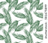 seamless exotic pattern with... | Shutterstock .eps vector #581675899