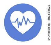 diagnosis of heart icon | Shutterstock .eps vector #581685628