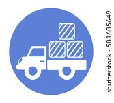 delivery truck icon | Shutterstock .eps vector #581685649