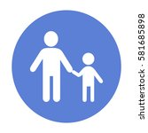 father and son icon | Shutterstock .eps vector #581685898