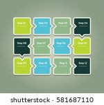 vector progress background.... | Shutterstock .eps vector #581687110