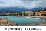 coastline of menton  france | Shutterstock . vector #581688370