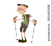 Senior Hiker With Backpack...