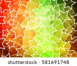 abstract geometric grunge... | Shutterstock . vector #581691748