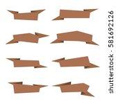 vector banner ribbons set   Shutterstock .eps vector #581692126