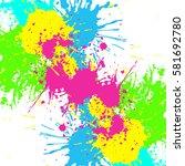 rainbow colored blot background ... | Shutterstock .eps vector #581692780