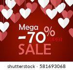 valentines day sale background. ... | Shutterstock .eps vector #581693068