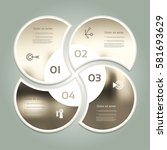 vector circle infographic.... | Shutterstock .eps vector #581693629