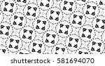 the black elements on a white... | Shutterstock . vector #581694070
