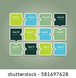 vector progress background.... | Shutterstock .eps vector #581697628