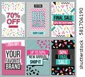 set of social media banners for ... | Shutterstock .eps vector #581706190