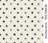 hand drawn vector seamless star ... | Shutterstock .eps vector #581708638