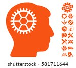 intellect cog pictograph with... | Shutterstock .eps vector #581711644