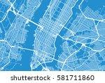 new york city vector map | Shutterstock .eps vector #581711860