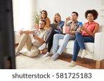 friendship  people  technology... | Shutterstock . vector #581725183
