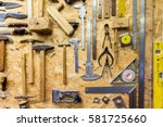carpentry  woodwork and... | Shutterstock . vector #581725660