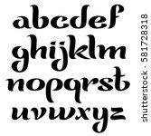 vector elegant lowercase script ... | Shutterstock .eps vector #581728318