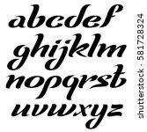 vector elegant italic lowercase ... | Shutterstock .eps vector #581728324